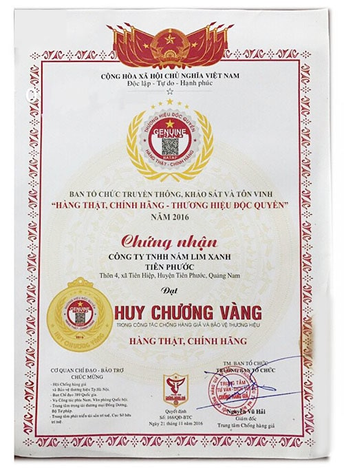 giấy chứng nhận doanh nhân 2016